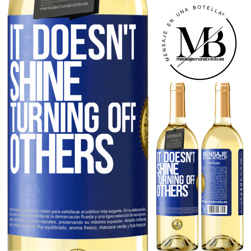 24,95 € Free Shipping   White Wine WHITE Edition It doesn't shine turning off others Blue Label. Customizable label Young wine Harvest 2020 Verdejo