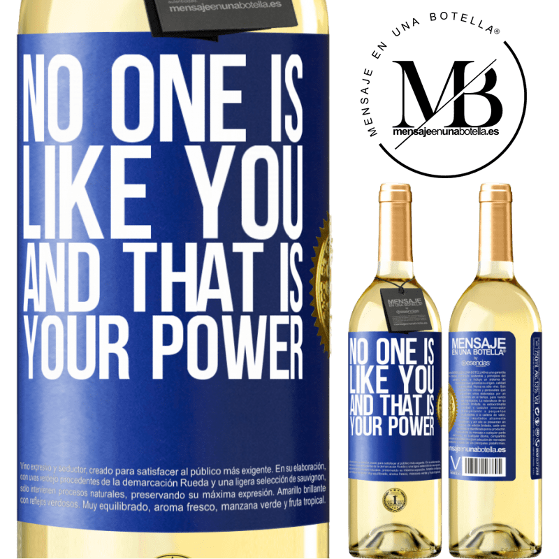 24,95 € Free Shipping | White Wine WHITE Edition No one is like you, and that is your power Blue Label. Customizable label Young wine Harvest 2020 Verdejo