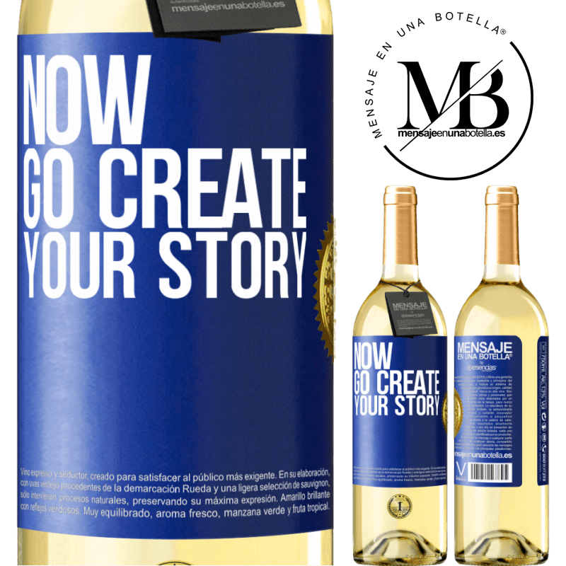 24,95 € Free Shipping   White Wine WHITE Edition Now, go create your story Blue Label. Customizable label Young wine Harvest 2020 Verdejo