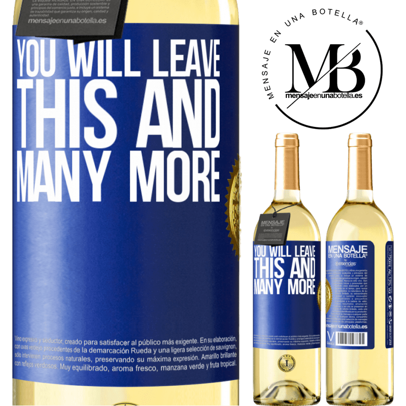 24,95 € Free Shipping   White Wine WHITE Edition You will leave this and many more Blue Label. Customizable label Young wine Harvest 2020 Verdejo