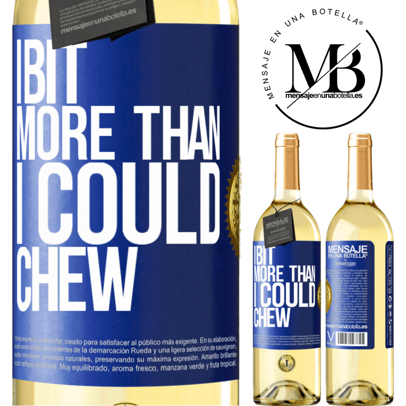 24,95 € Free Shipping | White Wine WHITE Edition I bit more than I could chew Blue Label. Customizable label Young wine Harvest 2020 Verdejo