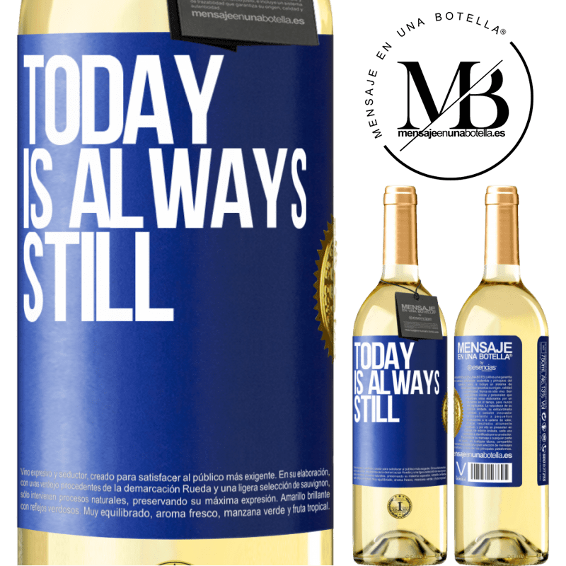 24,95 € Free Shipping | White Wine WHITE Edition Today is always still Blue Label. Customizable label Young wine Harvest 2020 Verdejo