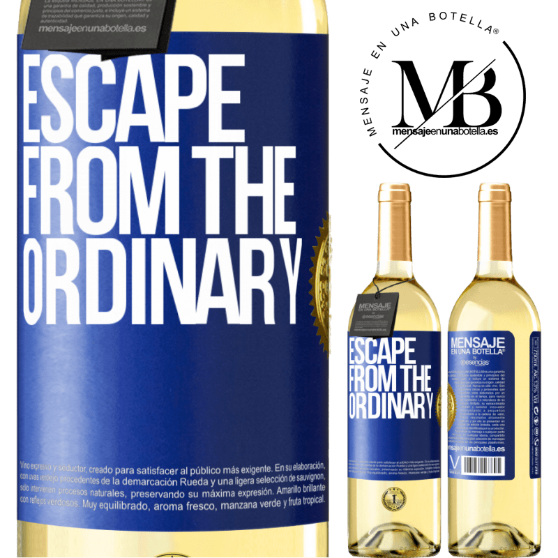 24,95 € Free Shipping | White Wine WHITE Edition Escape from the ordinary Blue Label. Customizable label Young wine Harvest 2020 Verdejo