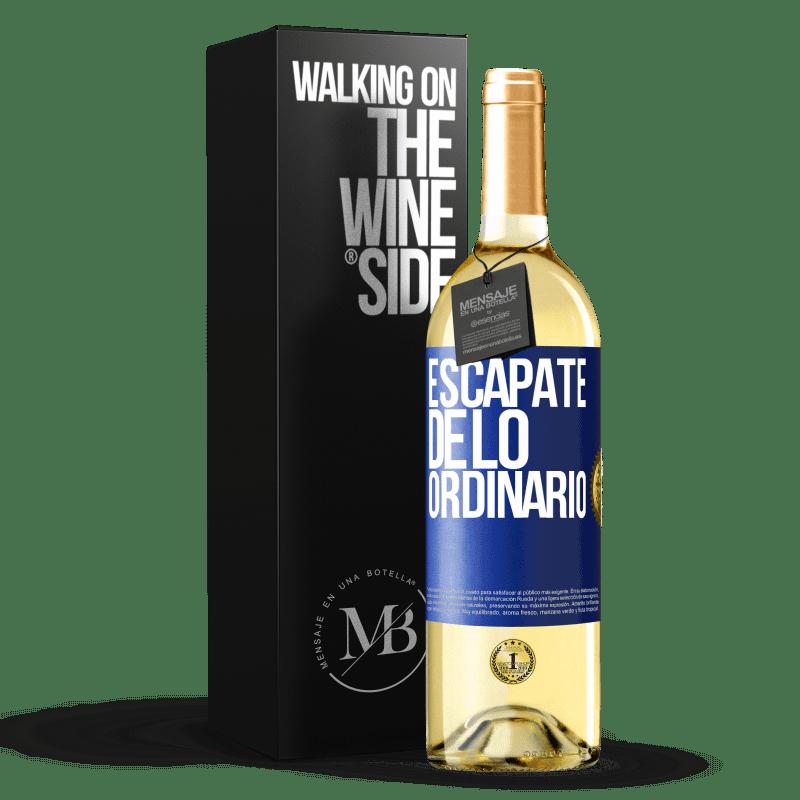 24,95 € Envoi gratuit | Vin blanc Édition WHITE Échapper à l'ordinaire Étiquette Bleue. Étiquette personnalisable Vin jeune Récolte 2020 Verdejo