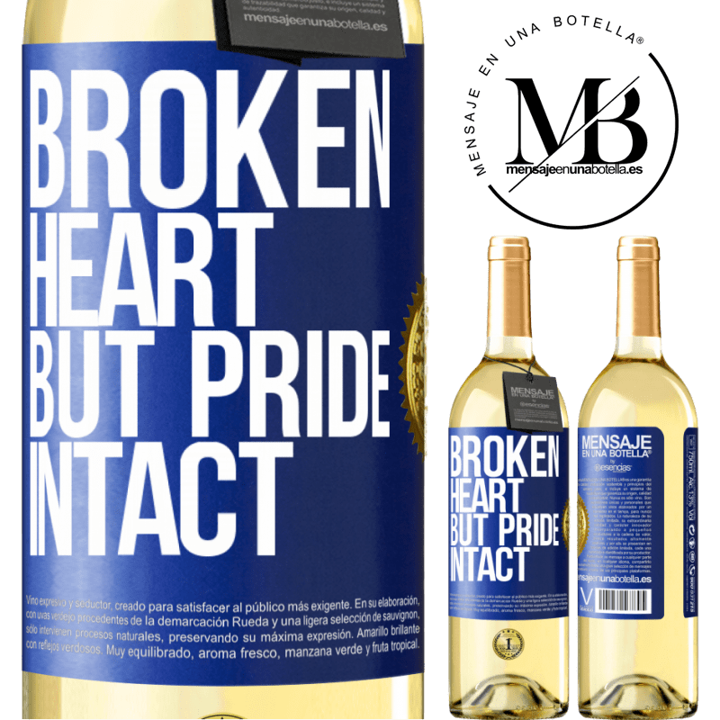 24,95 € Free Shipping   White Wine WHITE Edition The broken heart But pride intact Blue Label. Customizable label Young wine Harvest 2020 Verdejo