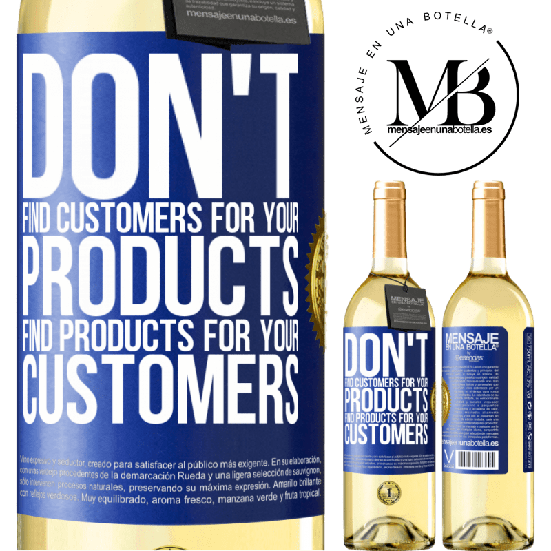 24,95 € Free Shipping | White Wine WHITE Edition Don't find customers for your products, find products for your customers Blue Label. Customizable label Young wine Harvest 2020 Verdejo