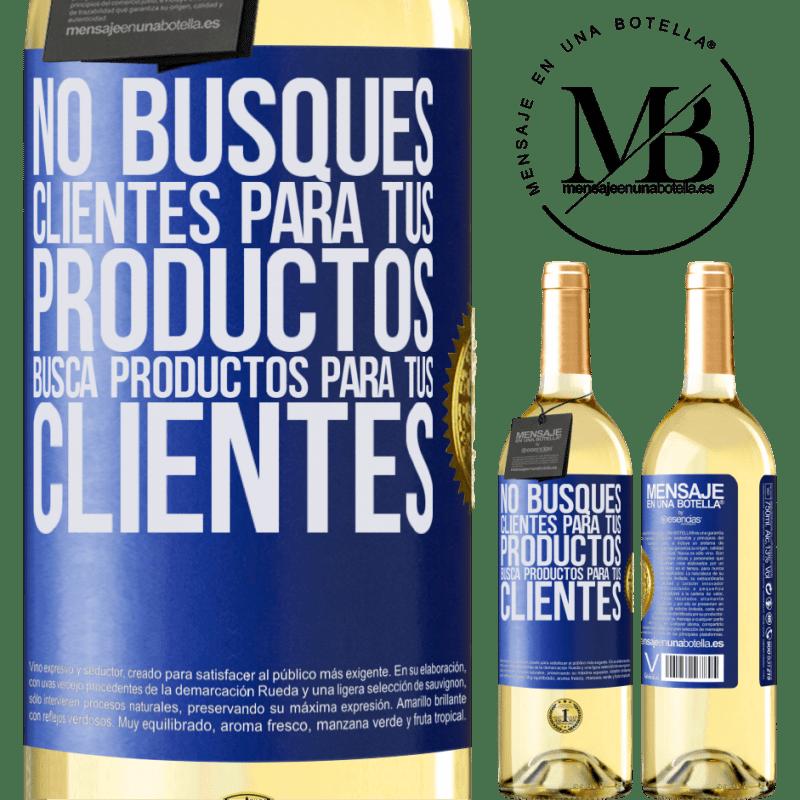 24,95 € Envoi gratuit | Vin blanc Édition WHITE Ne cherchez pas de clients pour vos produits, recherchez des produits pour vos clients Étiquette Bleue. Étiquette personnalisable Vin jeune Récolte 2020 Verdejo
