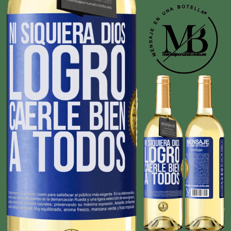 24,95 € Envoi gratuit | Vin blanc Édition WHITE Même Dieu n'a pas réussi à aimer tout le monde Étiquette Bleue. Étiquette personnalisable Vin jeune Récolte 2020 Verdejo