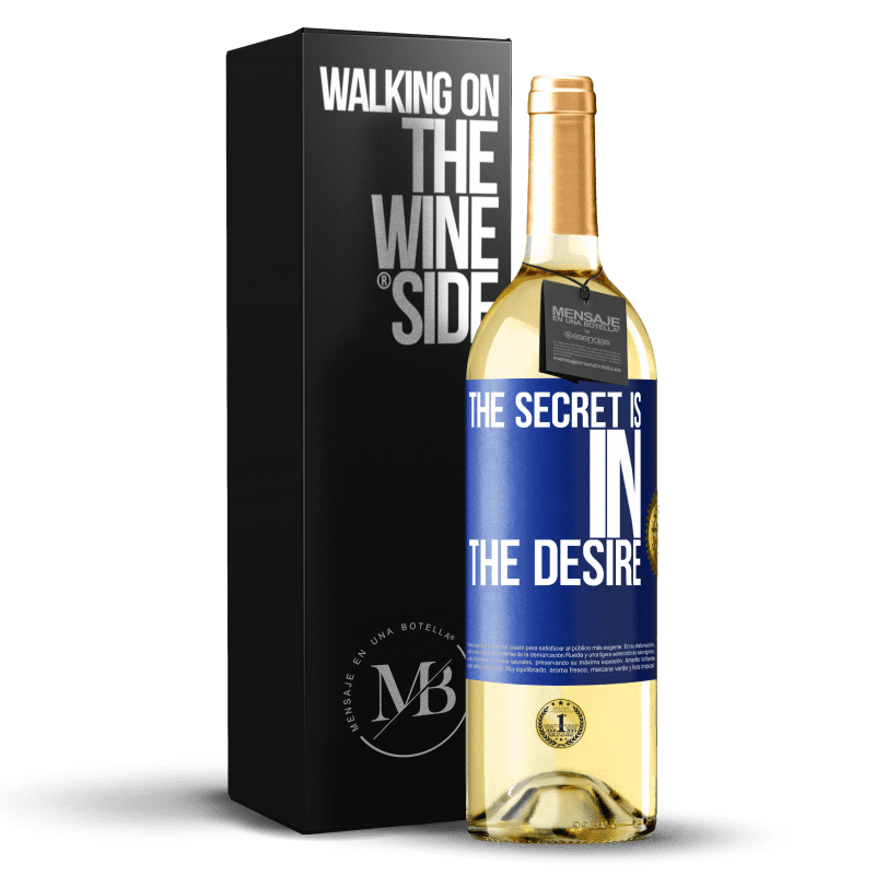 24,95 € Free Shipping   White Wine WHITE Edition The secret is in the desire Blue Label. Customizable label Young wine Harvest 2020 Verdejo