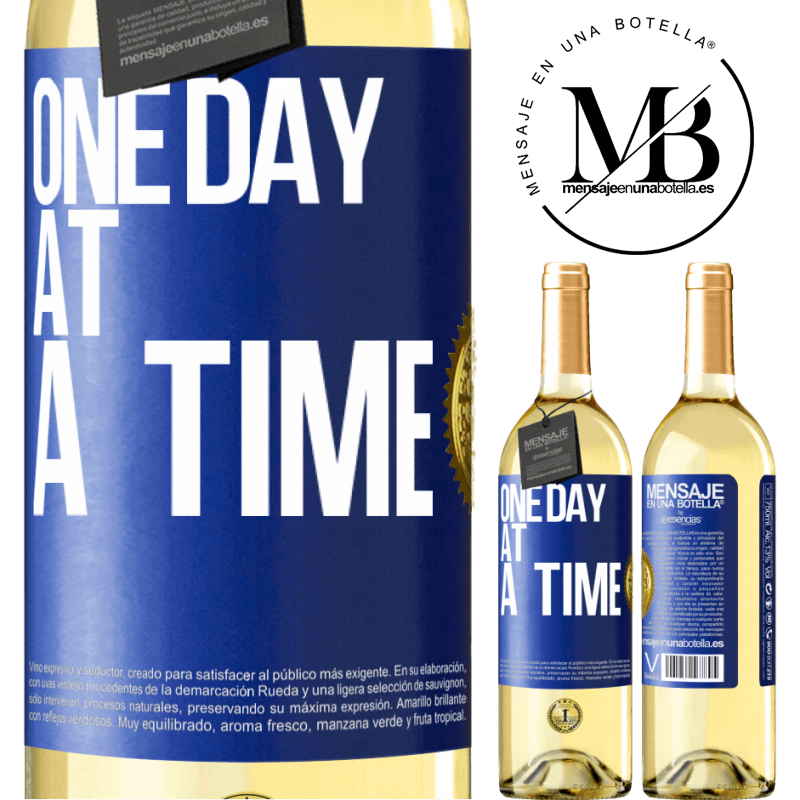 24,95 € Free Shipping   White Wine WHITE Edition One day at a time Blue Label. Customizable label Young wine Harvest 2020 Verdejo