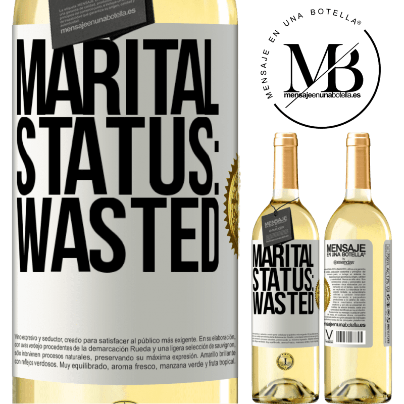24,95 € Free Shipping   White Wine WHITE Edition Marital status: wasted White Label. Customizable label Young wine Harvest 2020 Verdejo