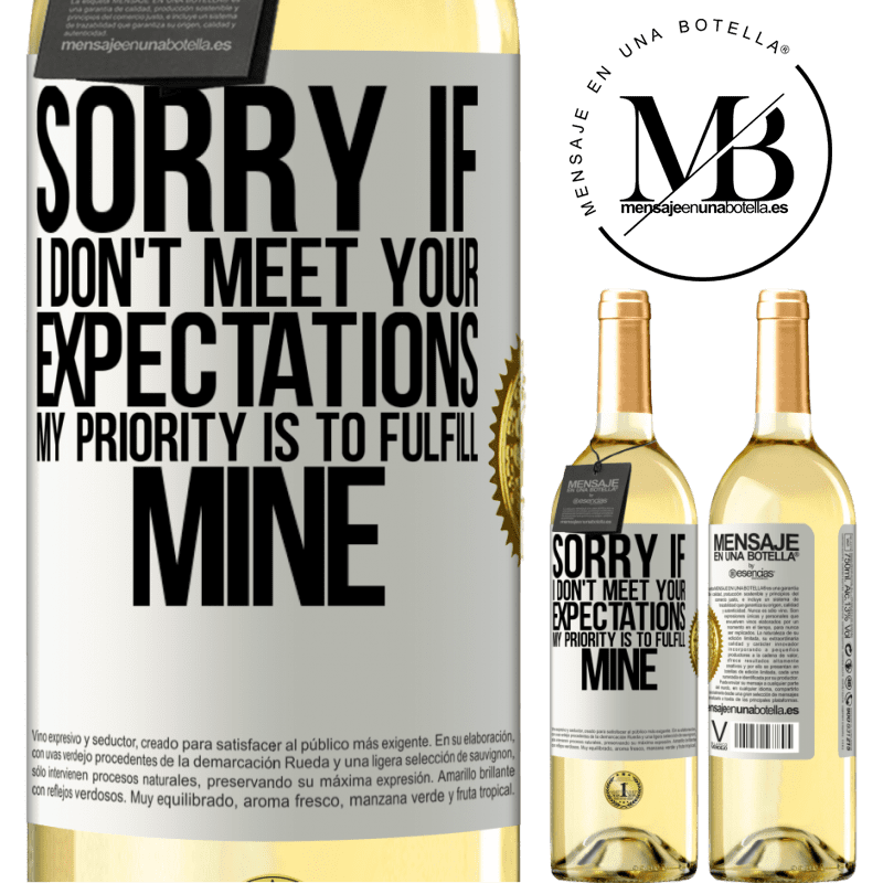 24,95 € Free Shipping | White Wine WHITE Edition Sorry if I don't meet your expectations. My priority is to fulfill mine White Label. Customizable label Young wine Harvest 2020 Verdejo