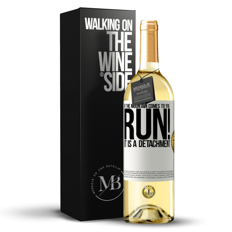 24,95 € Free Shipping | White Wine WHITE Edition If the mountain comes to you ... Run! It is a detachment White Label. Customizable label Young wine Harvest 2020 Verdejo
