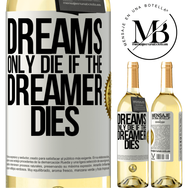 24,95 € Free Shipping   White Wine WHITE Edition Dreams only die if the dreamer dies White Label. Customizable label Young wine Harvest 2020 Verdejo