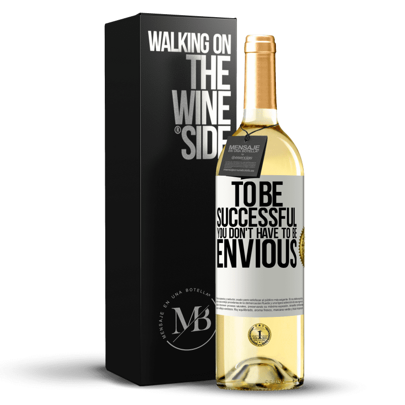 24,95 € Free Shipping   White Wine WHITE Edition To be successful you don't have to be envious White Label. Customizable label Young wine Harvest 2020 Verdejo