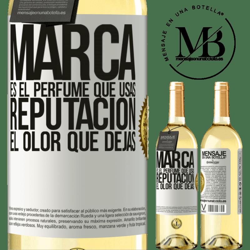 24,95 € Envoi gratuit | Vin blanc Édition WHITE La marque est le parfum que vous utilisez. Réputation, l'odeur que vous laissez Étiquette Blanche. Étiquette personnalisable Vin jeune Récolte 2020 Verdejo
