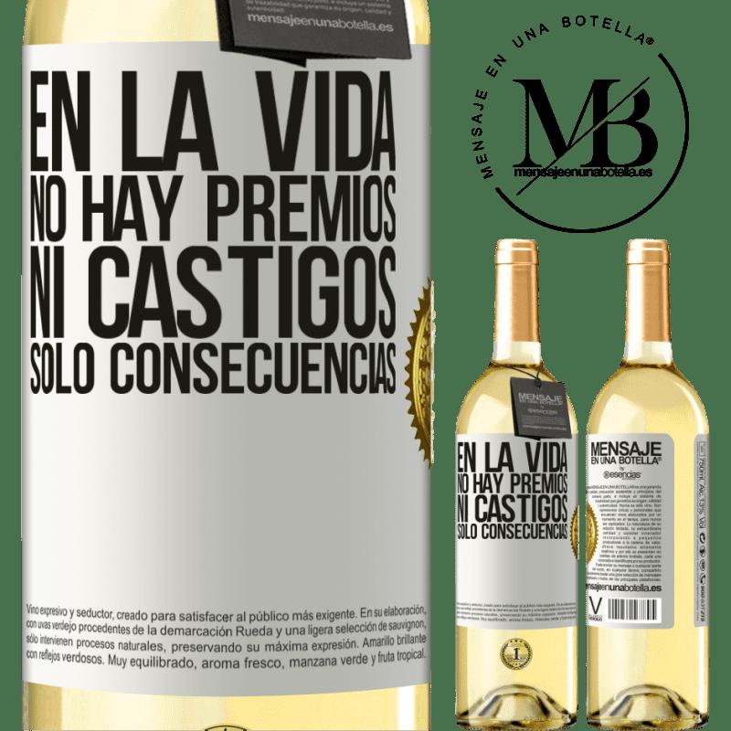 24,95 € Envoi gratuit   Vin blanc Édition WHITE Dans la vie, il n'y a pas de prix ou de punitions. Conséquences uniquement Étiquette Blanche. Étiquette personnalisable Vin jeune Récolte 2020 Verdejo