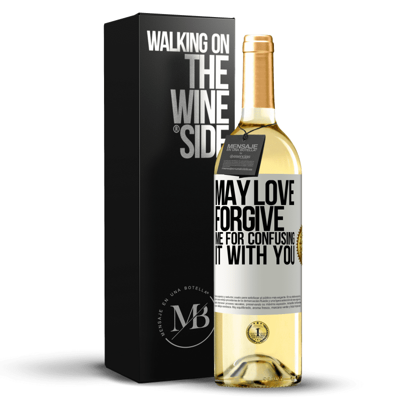 24,95 € Free Shipping | White Wine WHITE Edition May love forgive me for confusing it with you White Label. Customizable label Young wine Harvest 2020 Verdejo