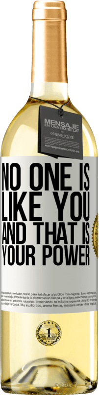 24,95 € Free Shipping | White Wine WHITE Edition No one is like you, and that is your power White Label. Customizable label Young wine Harvest 2020 Verdejo