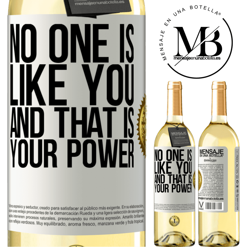 24,95 € Free Shipping   White Wine WHITE Edition No one is like you, and that is your power White Label. Customizable label Young wine Harvest 2020 Verdejo