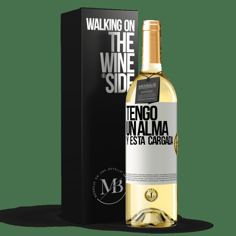 24,95 € Free Shipping   White Wine WHITE Edition Tengo un alma y está cargada White Label. Customizable label Young wine Harvest 2020 Verdejo