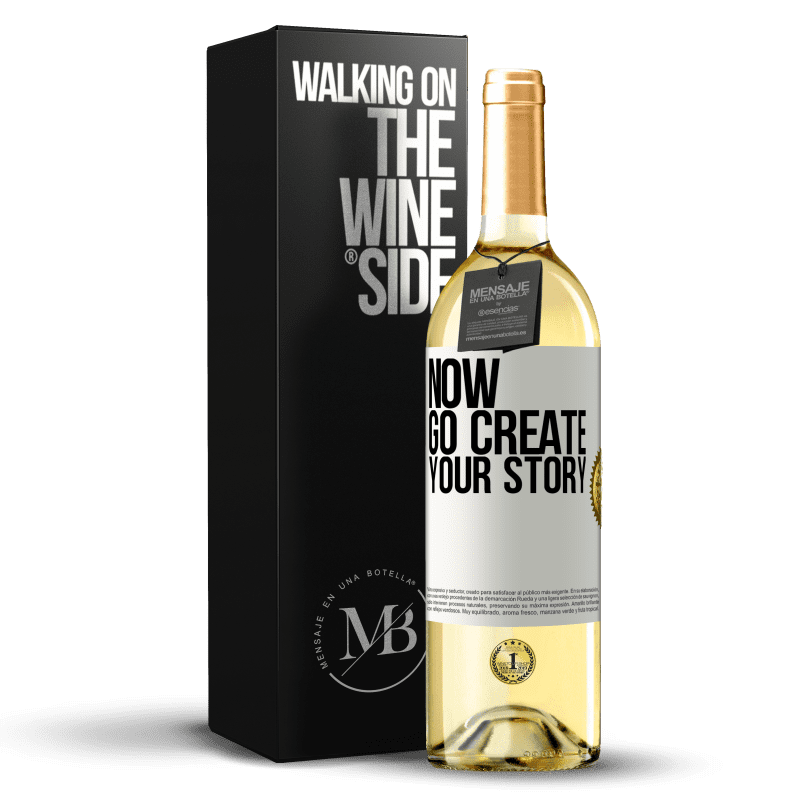 24,95 € Free Shipping   White Wine WHITE Edition Now, go create your story White Label. Customizable label Young wine Harvest 2020 Verdejo