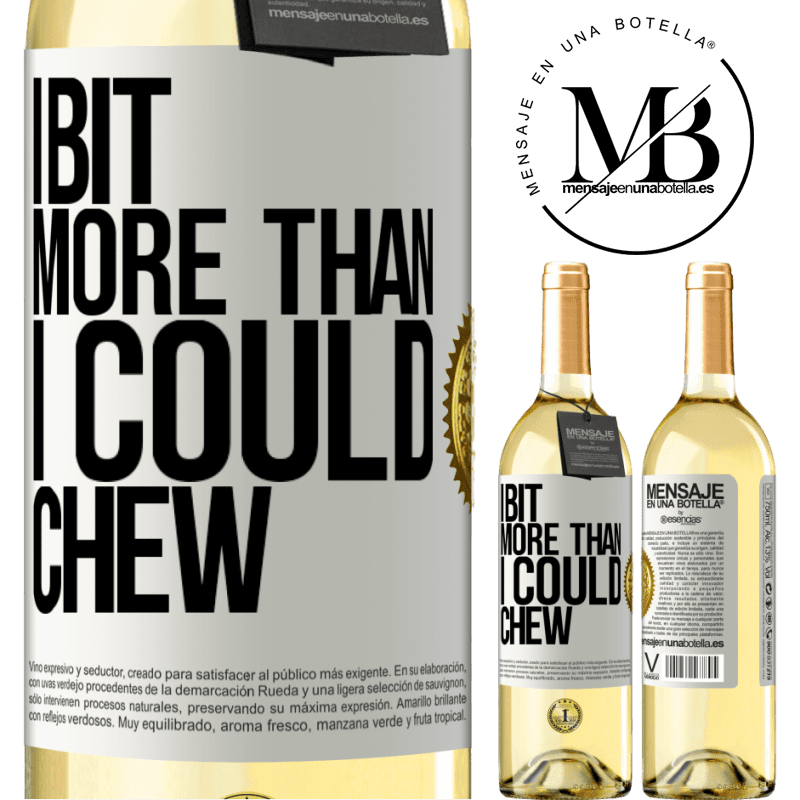 24,95 € Free Shipping | White Wine WHITE Edition I bit more than I could chew White Label. Customizable label Young wine Harvest 2020 Verdejo