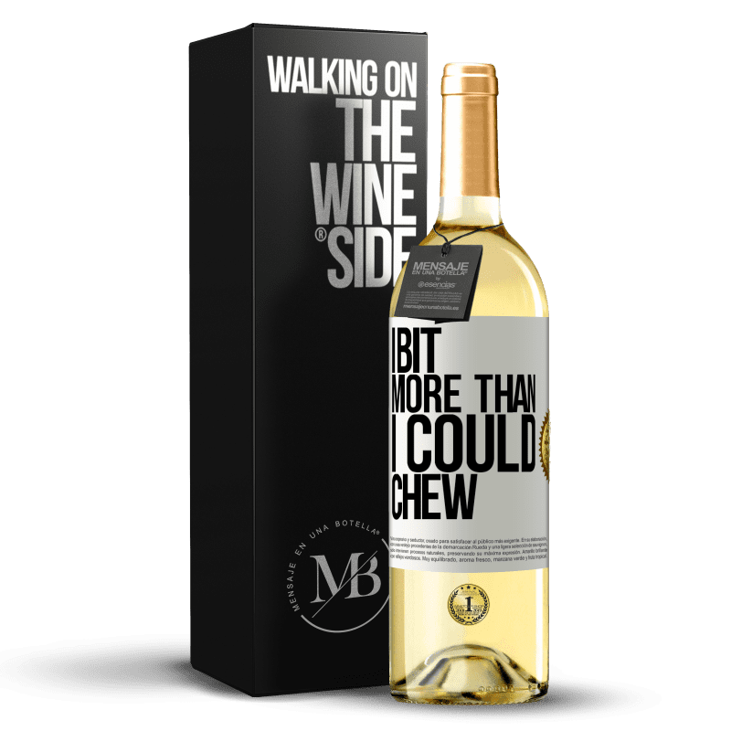 24,95 € Free Shipping   White Wine WHITE Edition I bit more than I could chew White Label. Customizable label Young wine Harvest 2020 Verdejo