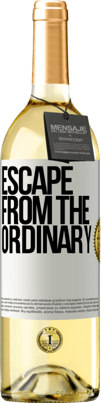 24,95 € Free Shipping | White Wine WHITE Edition Escape from the ordinary White Label. Customizable label Young wine Harvest 2020 Verdejo