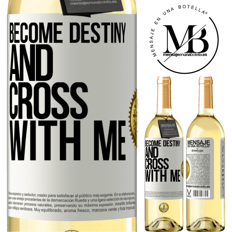 24,95 € Free Shipping   White Wine WHITE Edition Become destiny and cross with me White Label. Customizable label Young wine Harvest 2020 Verdejo