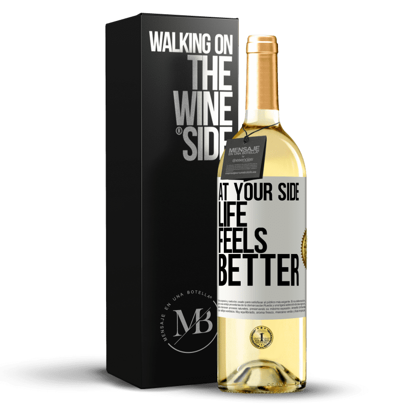 24,95 € Free Shipping | White Wine WHITE Edition At your side life feels better White Label. Customizable label Young wine Harvest 2020 Verdejo
