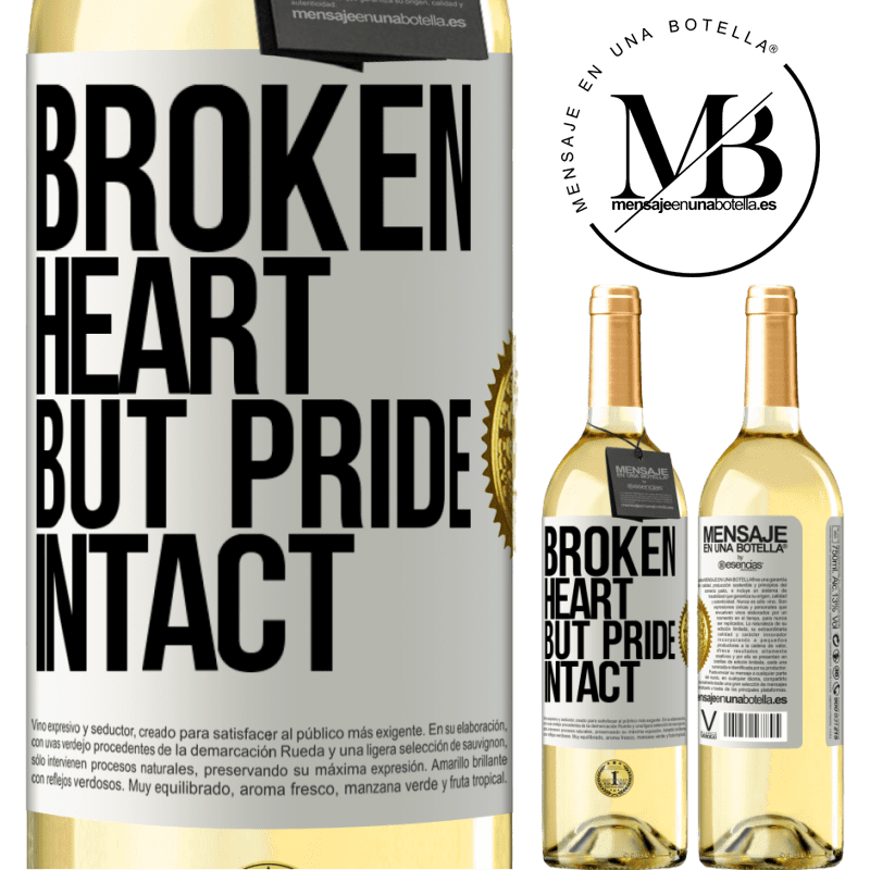24,95 € Free Shipping   White Wine WHITE Edition The broken heart But pride intact White Label. Customizable label Young wine Harvest 2020 Verdejo