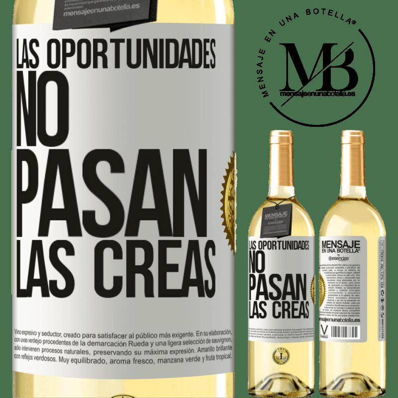 24,95 € Envoi gratuit | Vin blanc Édition WHITE Les opportunités ne passent pas. Vous les créez Étiquette Blanche. Étiquette personnalisable Vin jeune Récolte 2020 Verdejo