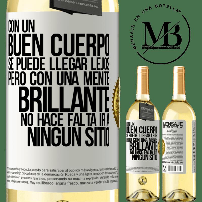 24,95 € Envoi gratuit   Vin blanc Édition WHITE Avec un bon corps, vous pouvez aller loin, mais avec un esprit brillant, vous n'avez pas besoin d'aller nulle part Étiquette Blanche. Étiquette personnalisable Vin jeune Récolte 2020 Verdejo