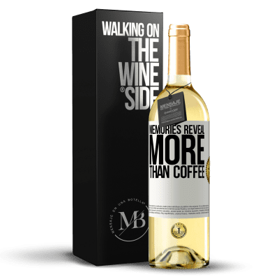 «Memories reveal more than coffee» WHITE Edition