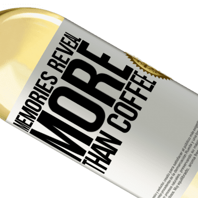 Unique & Personal Expressions. «Memories reveal more than coffee» WHITE Edition