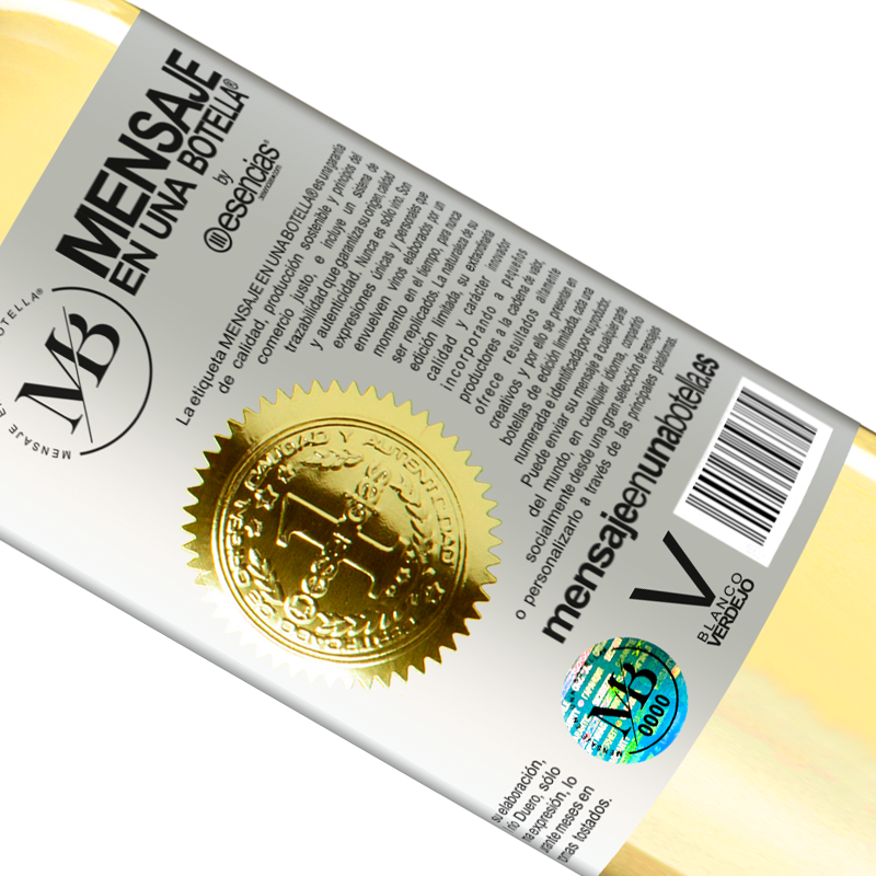 Limited Edition. «Open this bottle and let the wine breathe. If you suspect you are not breathing, grab the bottle by the neck and make it» WHITE Edition