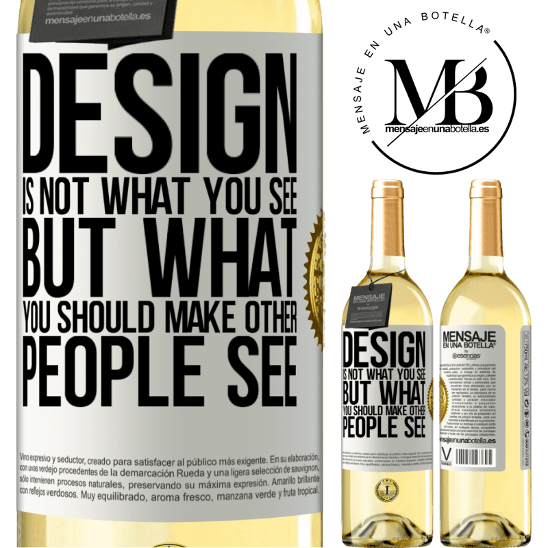 24,95 € Free Shipping | White Wine WHITE Edition Design is not what you see, but what you should make other people see White Label. Customizable label Young wine Harvest 2020 Verdejo