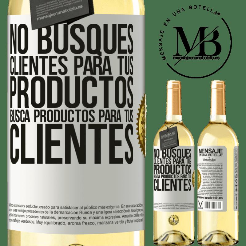24,95 € Envoi gratuit | Vin blanc Édition WHITE Ne cherchez pas de clients pour vos produits, recherchez des produits pour vos clients Étiquette Blanche. Étiquette personnalisable Vin jeune Récolte 2020 Verdejo