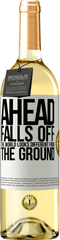 24,95 € Free Shipping | White Wine WHITE Edition Ahead. Falls off. The world looks different from the ground White Label. Customizable label Young wine Harvest 2020 Verdejo