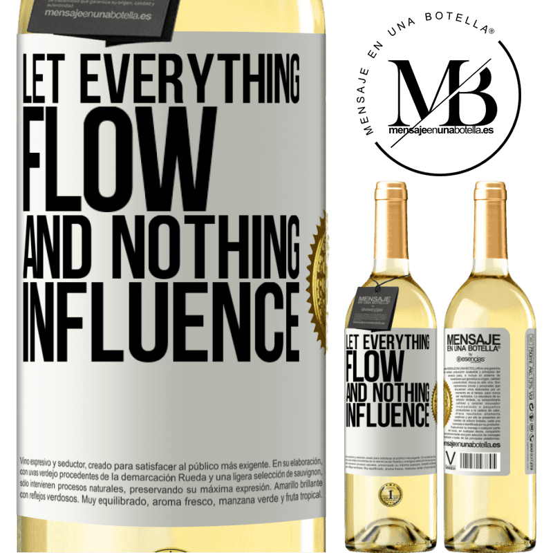 24,95 € Free Shipping | White Wine WHITE Edition Let everything flow and nothing influence White Label. Customizable label Young wine Harvest 2020 Verdejo