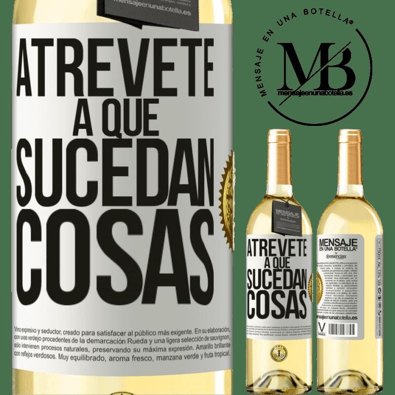 24,95 € Envoi gratuit   Vin blanc Édition WHITE Osez faire bouger les choses Étiquette Blanche. Étiquette personnalisable Vin jeune Récolte 2020 Verdejo