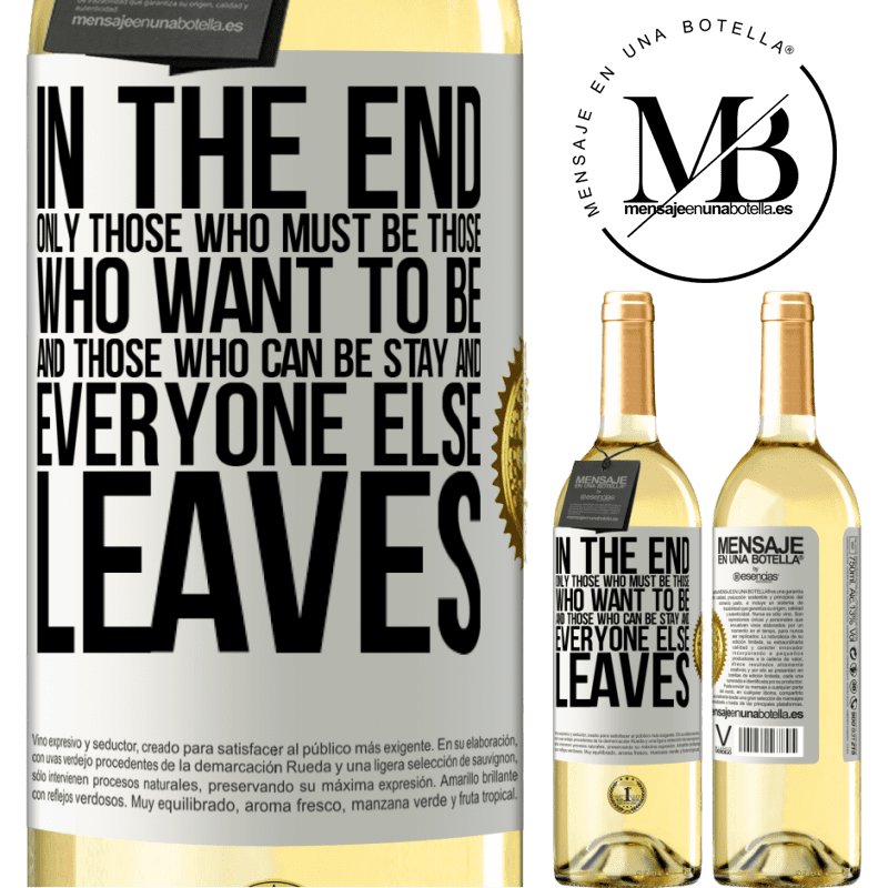 24,95 € Free Shipping | White Wine WHITE Edition In the end, only those who must be, those who want to be and those who can be stay. And everyone else leaves White Label. Customizable label Young wine Harvest 2020 Verdejo