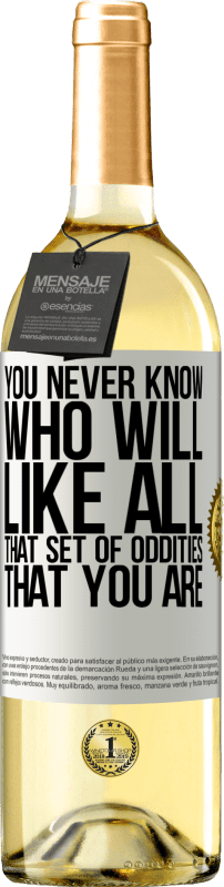 24,95 € Free Shipping   White Wine WHITE Edition You never know who will like all that set of oddities that you are White Label. Customizable label Young wine Harvest 2020 Verdejo
