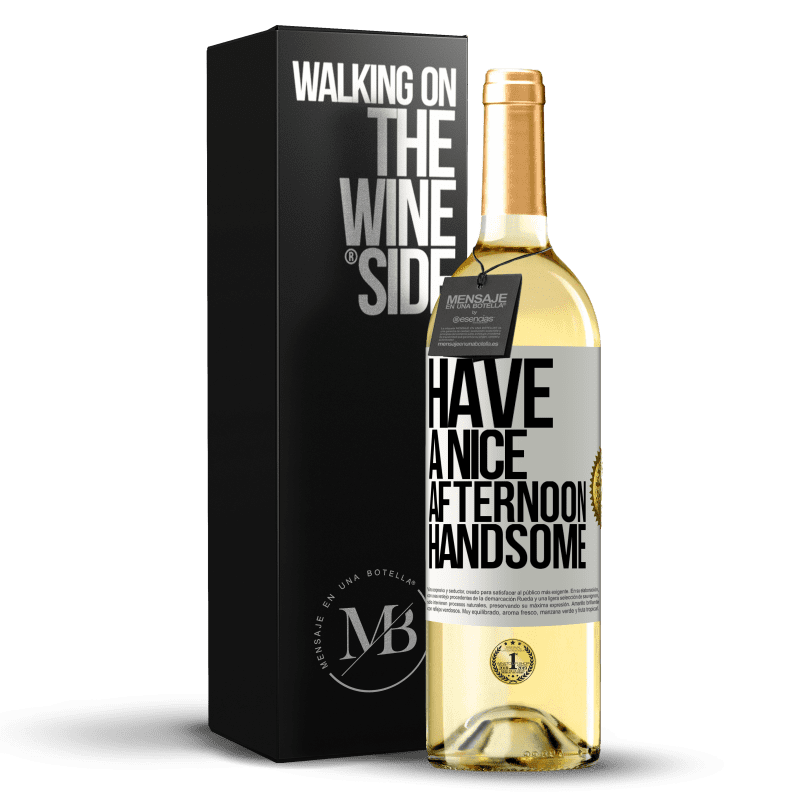 24,95 € Free Shipping   White Wine WHITE Edition Have a nice afternoon, handsome White Label. Customizable label Young wine Harvest 2020 Verdejo