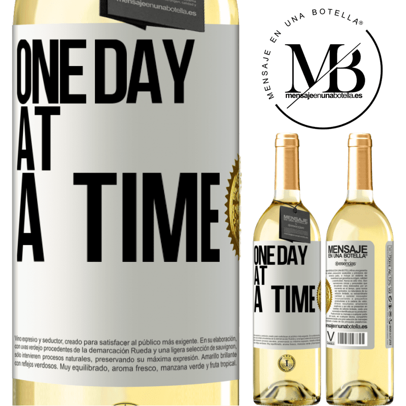 24,95 € Free Shipping   White Wine WHITE Edition One day at a time White Label. Customizable label Young wine Harvest 2020 Verdejo