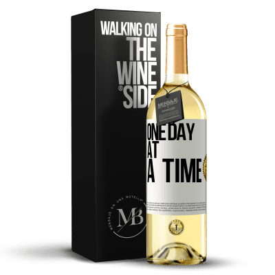 «One day at a time» WHITE Edition