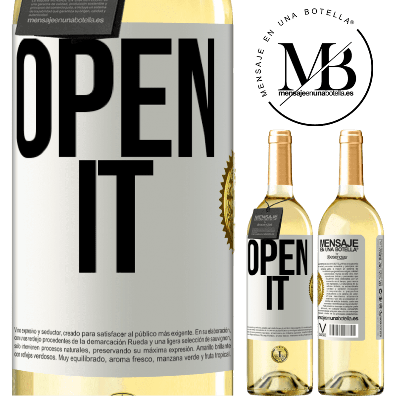 24,95 € Free Shipping | White Wine WHITE Edition Open it White Label. Customizable label Young wine Harvest 2020 Verdejo