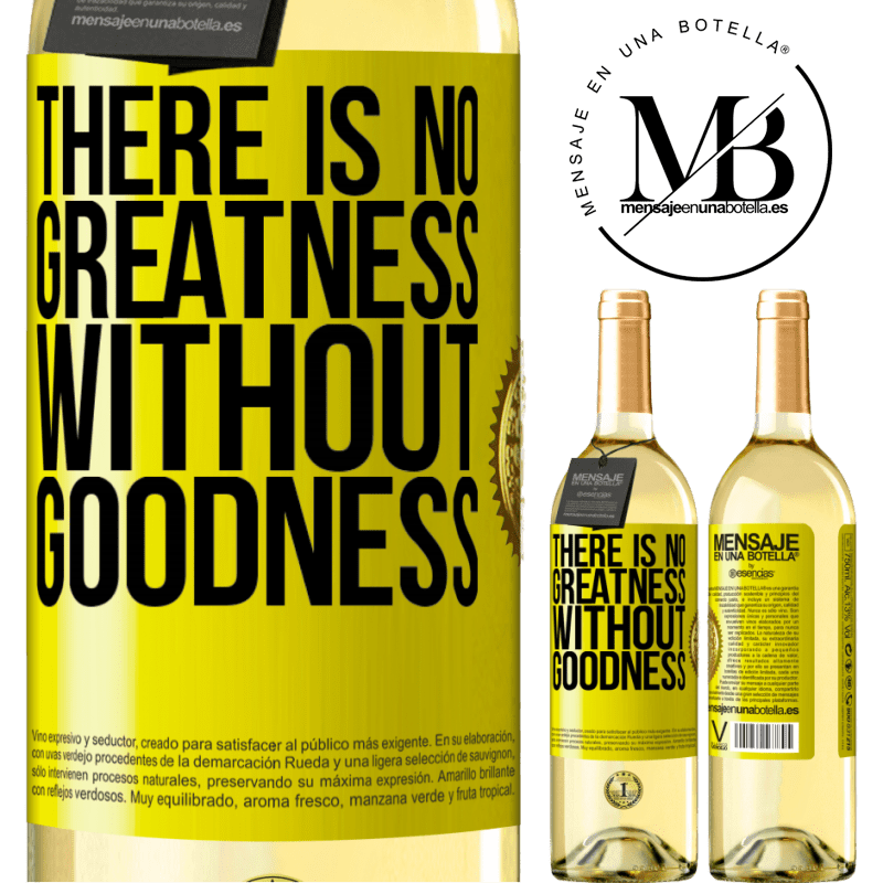 24,95 € Free Shipping | White Wine WHITE Edition There is no greatness without goodness Yellow Label. Customizable label Young wine Harvest 2020 Verdejo
