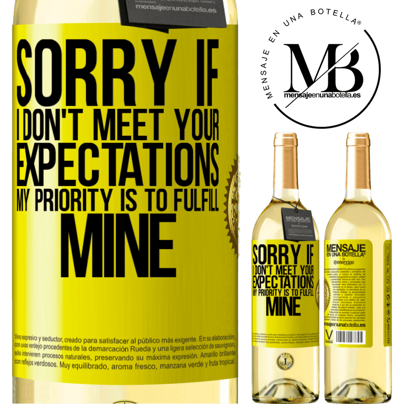24,95 € Free Shipping | White Wine WHITE Edition Sorry if I don't meet your expectations. My priority is to fulfill mine Yellow Label. Customizable label Young wine Harvest 2020 Verdejo